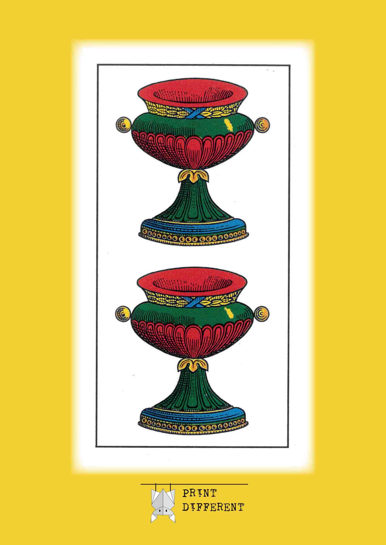 Quaderno carte piacentine print different for Due di bastoni carte napoletane