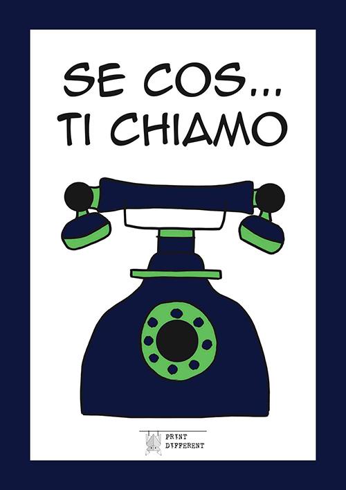 Agenda telefonica piacentina. Variante colore blu. Ideata e stampata a Piacenza da Print Different