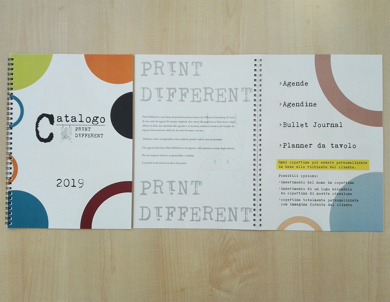 È arrivato il catalogo Print different 2019