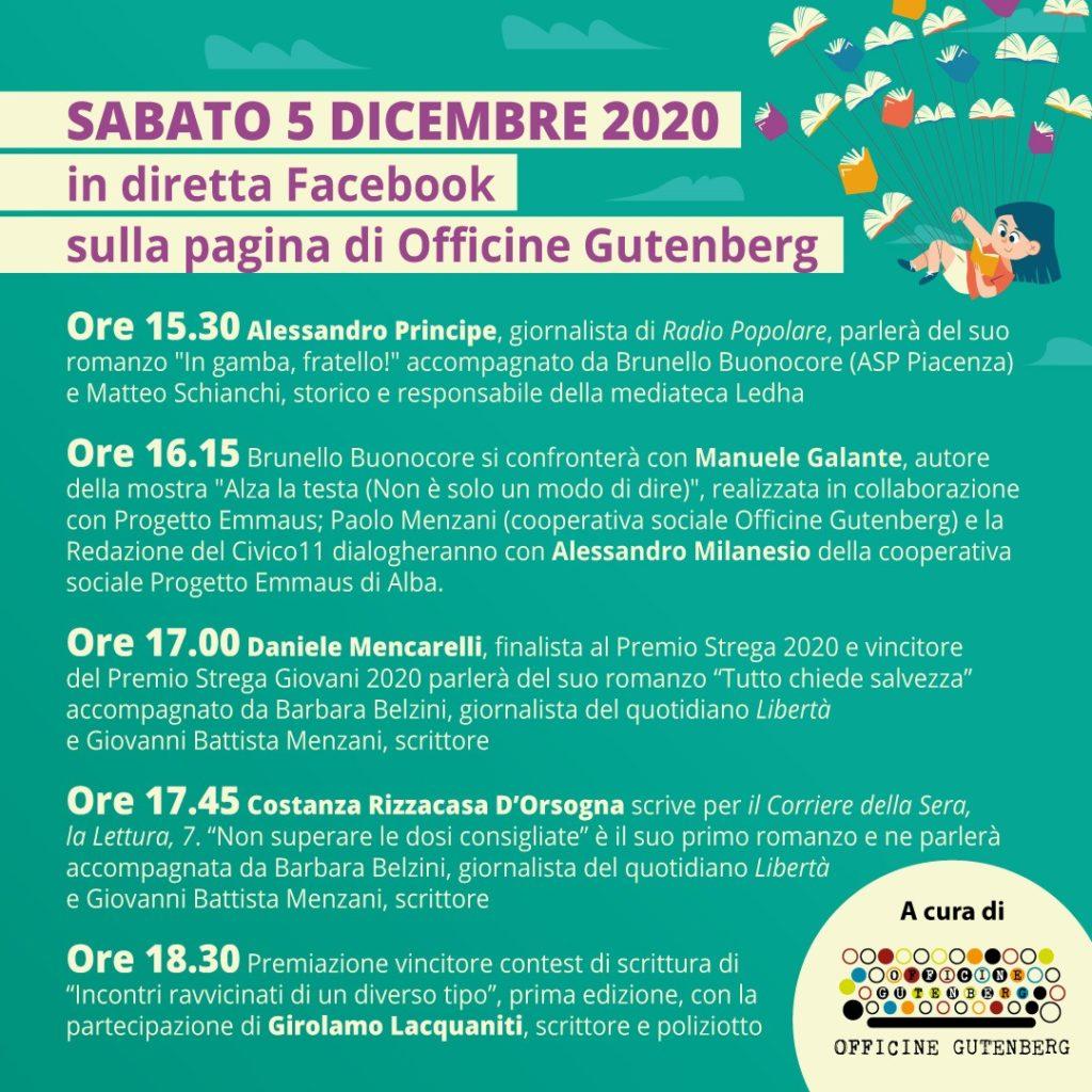 """Ritorna Incontri. Il festival creato da Asp e Officine Gutenberg sarà """"on line"""" il 5 dicembre"""