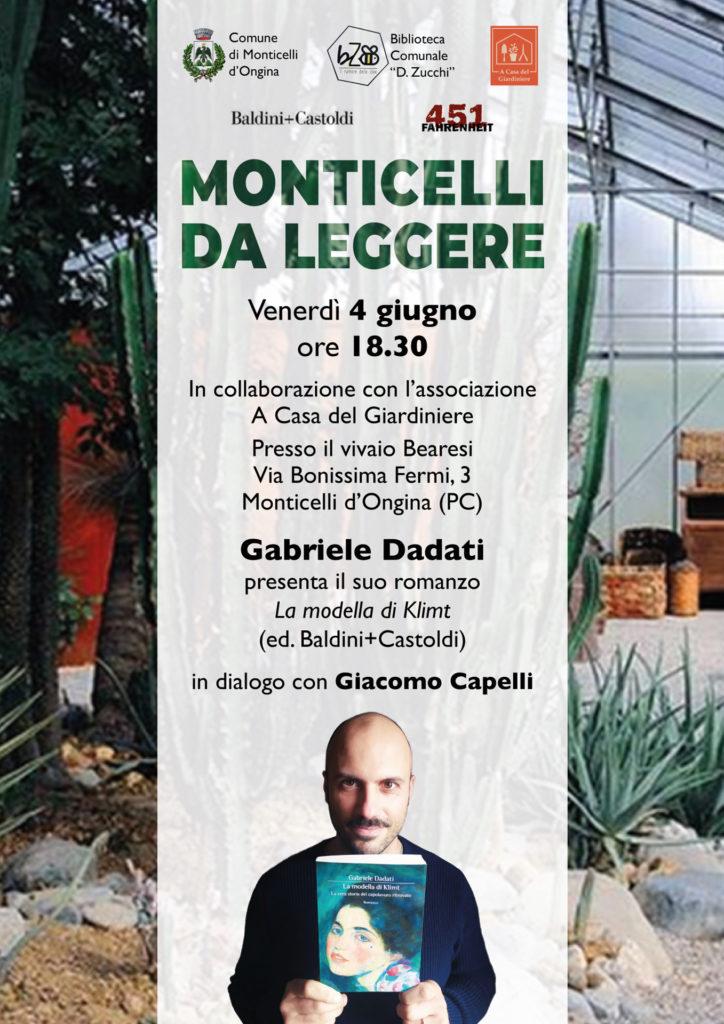 """Gabriele Dadati per """"Monticelli da leggere"""""""