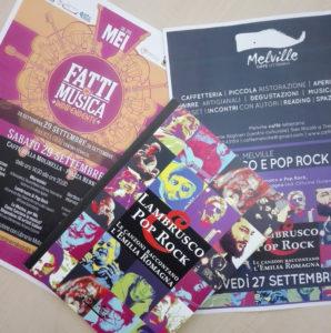 Melville e MEI: è la settimana di Lambrusco e Pop Rock!