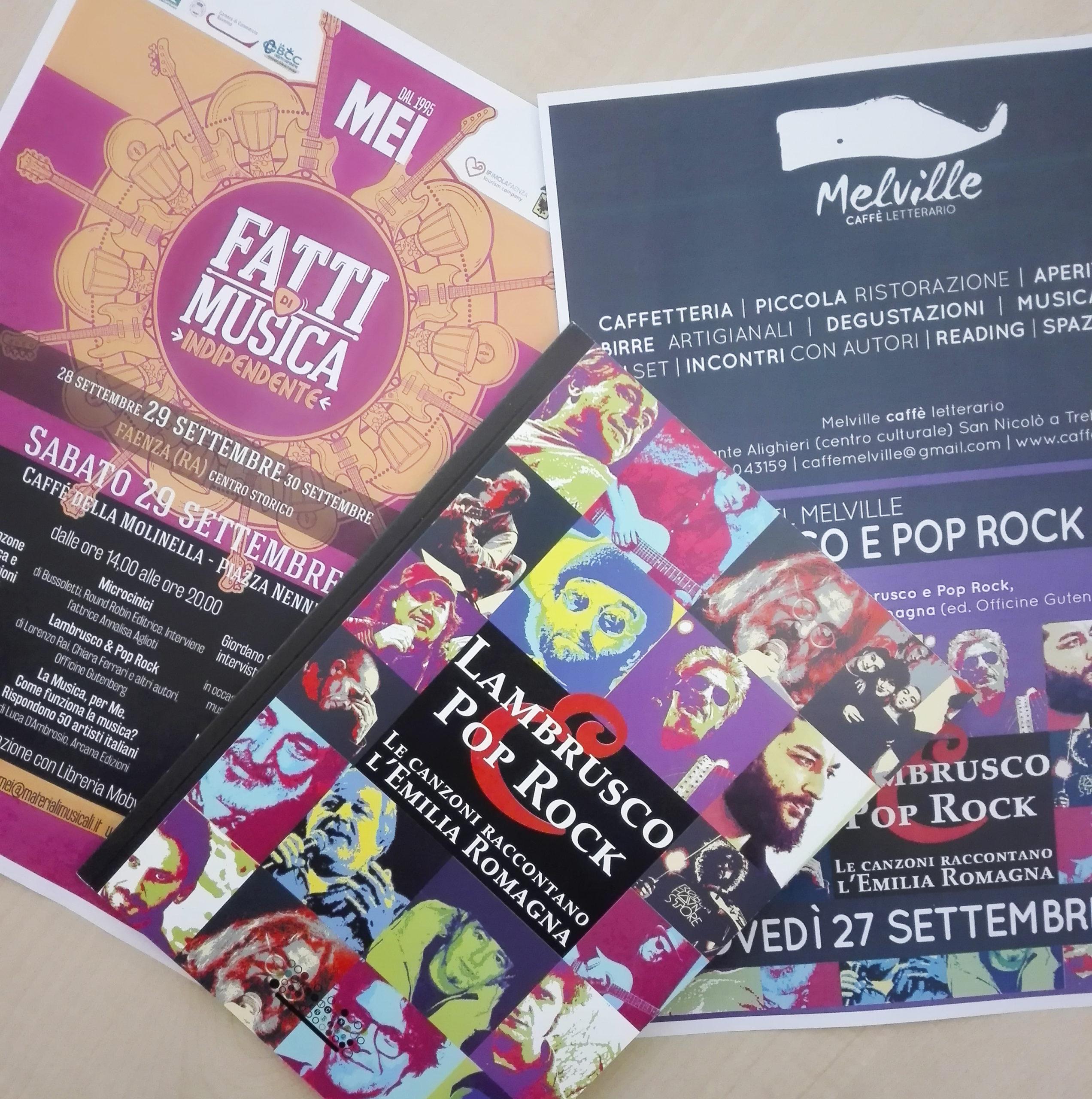 Read more about the article Melville e MEI: è la settimana di Lambrusco e Pop Rock!