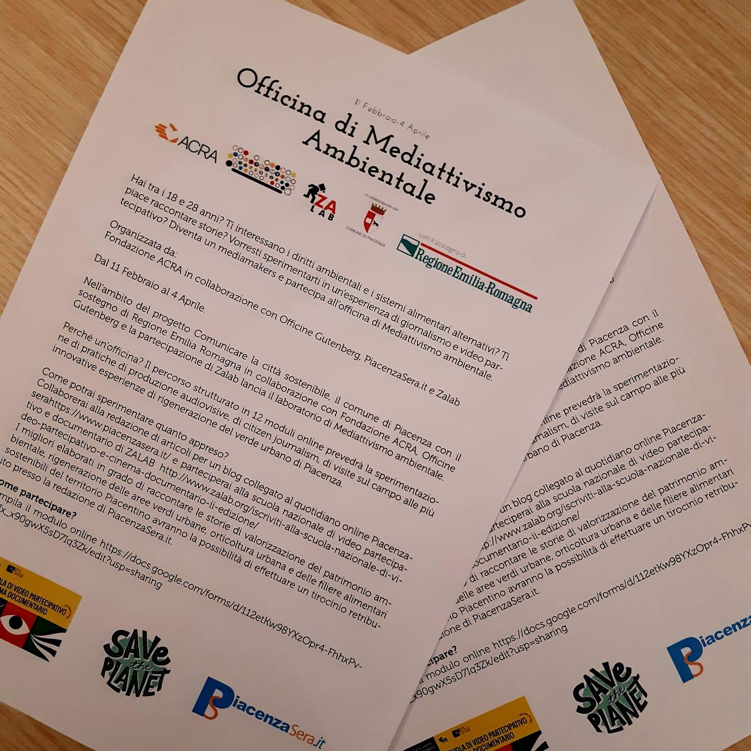 Read more about the article Mediattivismo: tra ambiente e comunicazione ecco il corso con Acra