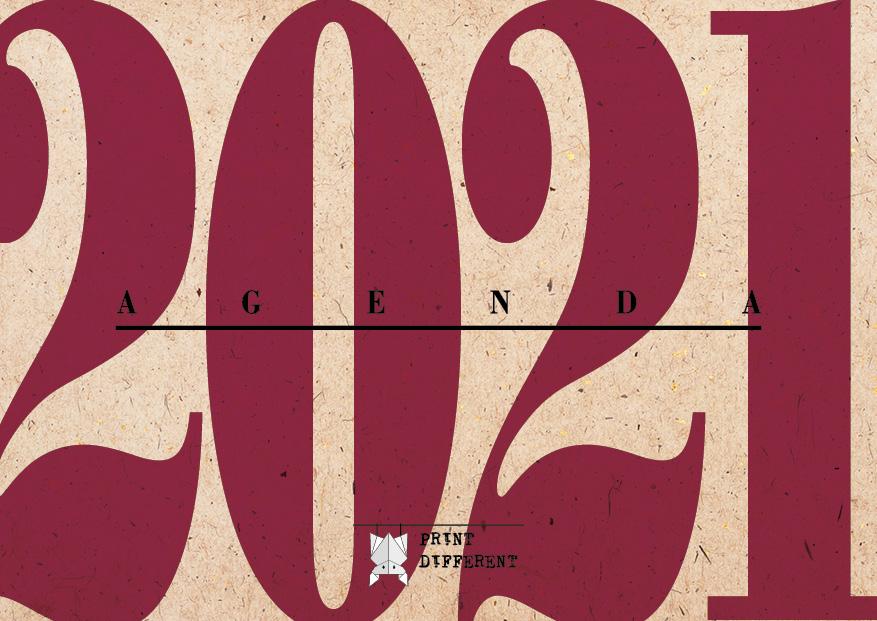 Agenda 2021 Settimanale A6 Anno Rosso Officine Gutenberg