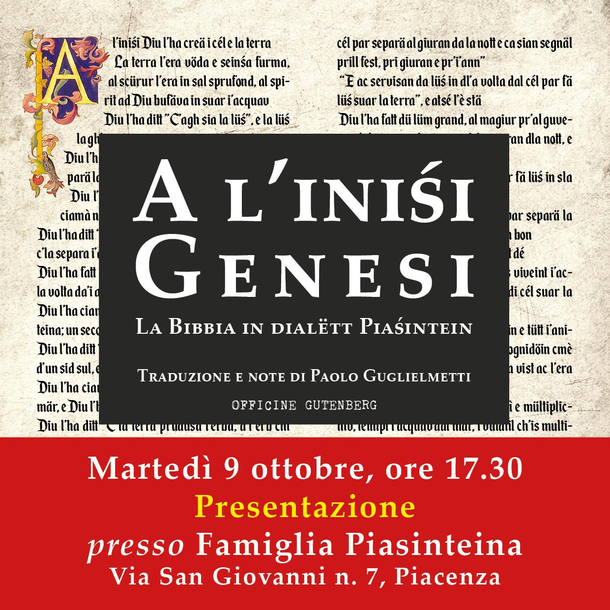 "Read more about the article Alla Famiglia Piasinteina arriva ""A l'inisi"""