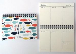 Agenda Sardine 2020 settimanale A6